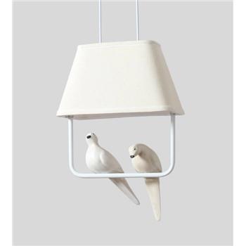 Подвесной кованый светильник Птицы на ветке