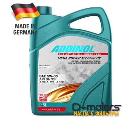ADDINOL MEGA POWER MV 0538 C2 5W-30 (5л)