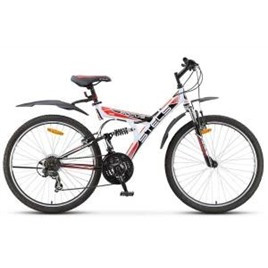 """Велосипед Stels Focus 26"""" V 21 sp V010 Белый/Черный/Красный, интернет-магазин Sportcoast.ru"""