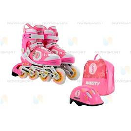 Набор LITTLE RABBIT Combo розовый (6) (Шлем,защита), интернет-магазин Sportcoast.ru