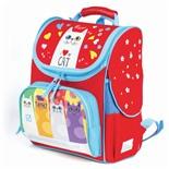 Ранец для девочек ортопедический Brauberg Style Коты 22 л 227824