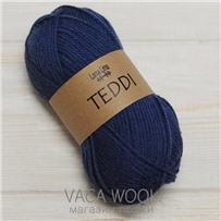 Пряжа Teddi, Синий Средний 11662, 110м в 50г, альпака, Перу
