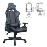 Кресло компьютерное Brabix GT Carbon GM-115 экокожа, черное 531932