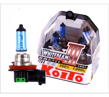 Лампа галогенная Koito Whitebeam H11 12V 55W (100W), комплект 2шт