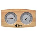 Термометр с гигрометром для бани и сауны Банная станция 18024
