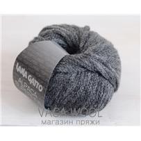 Пряжа Alpaca Superfine, серый 7612, 70м в 50 г