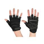 Перчатки для фитнеса SU-116, черные/серые