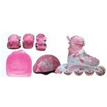 Набор: коньки роликовые, защита, шлем PW-999 (р.26-29)