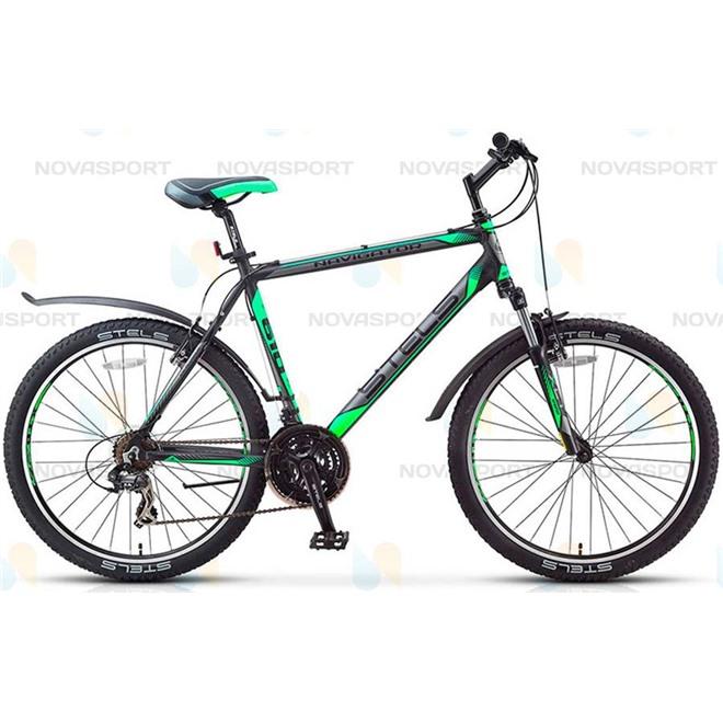 Велосипед Stels Navigator 610 V 26 (2016) Черный/Серый/Салатовый , интернет-магазин Sportcoast.ru