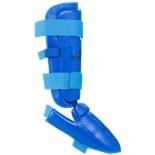 Защита голень-стопа Flex для карате к/з, синий