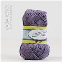 Пряжа Pic-Nic 27 Фиолетовый 115м/50гр., хлопок 100%, Miss Tricot Filati