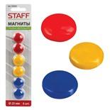 Магниты для доски Staff Basic 20 мм 6 шт 236404